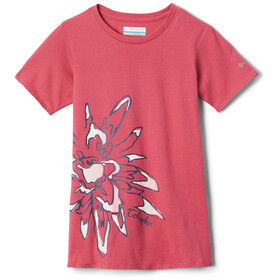Columbia Peak Point T-Shirt Girls rouge pink/side treatment graphic